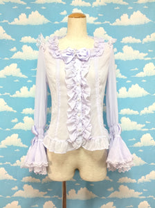 Square Princess Sleeve Blouse in Lavender from Angelic Pretty