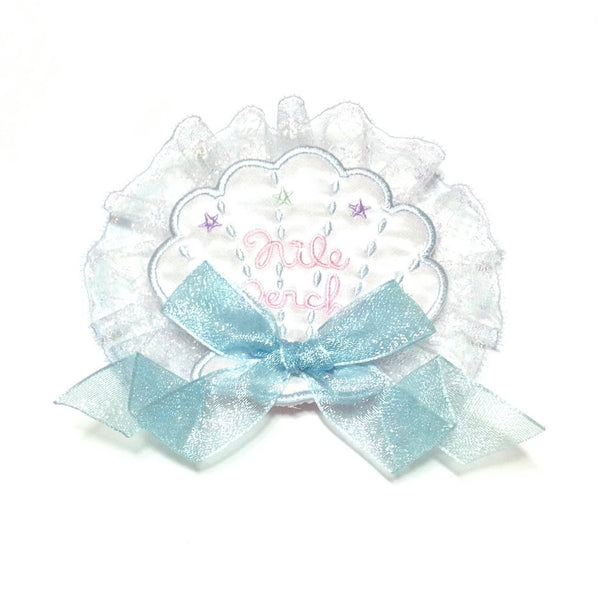Star Shell Frill Badge in Mint x Sax from Nile Perch