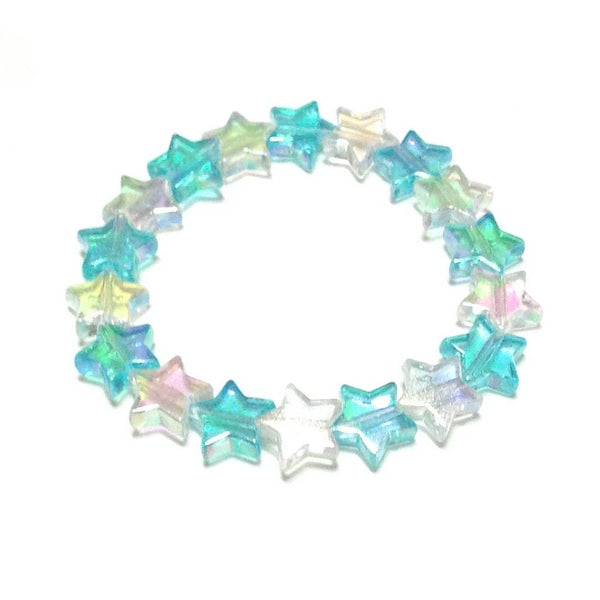 Star Shower Bracelet in Mix (Sax x White) from Pastel Skies