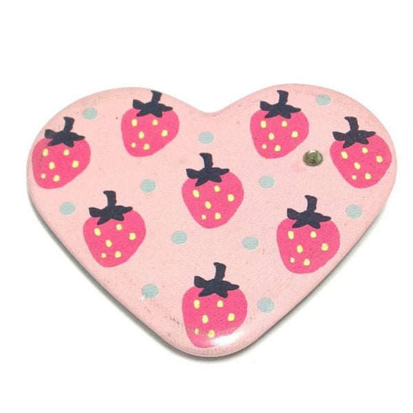 Strawberry Dot Heart Badge from SWIMMER