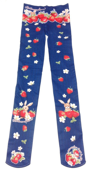 Strawberry Garden Tights in Navy from Metamorphose Temps de Fille