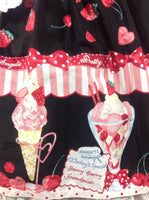 Strawberry Parlour OP (One Piece) in Black from Angelic Pretty
