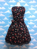 Strawberry Print JSK in Black from Atelier Pierrot