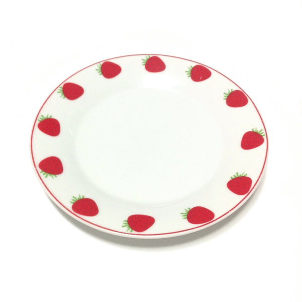 Strawberry Print Plate Set in White x Red from Chocoholic