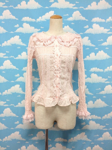 Sugar Pansy Blouse in Pink from Angelic Pretty