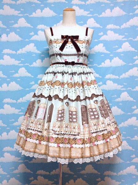 Sweet Cream House High Waist JSK in Mint from Angelic Pretty