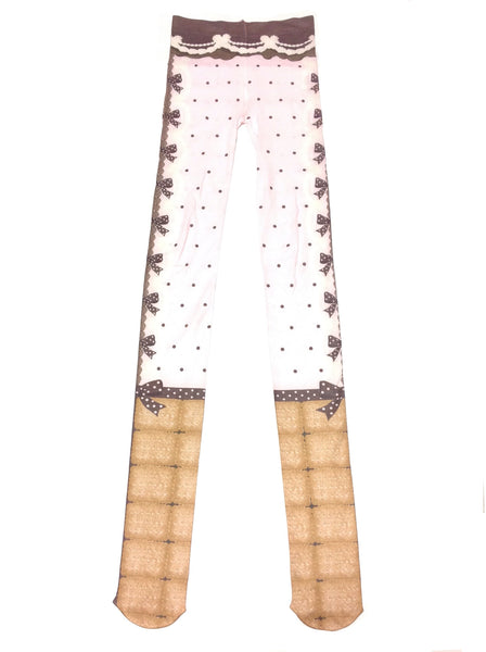 Sweet Cream House Tights in Pink from Angelic Pretty