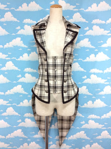 Tartan Check Vest in Ivory from Alice and the Pirates