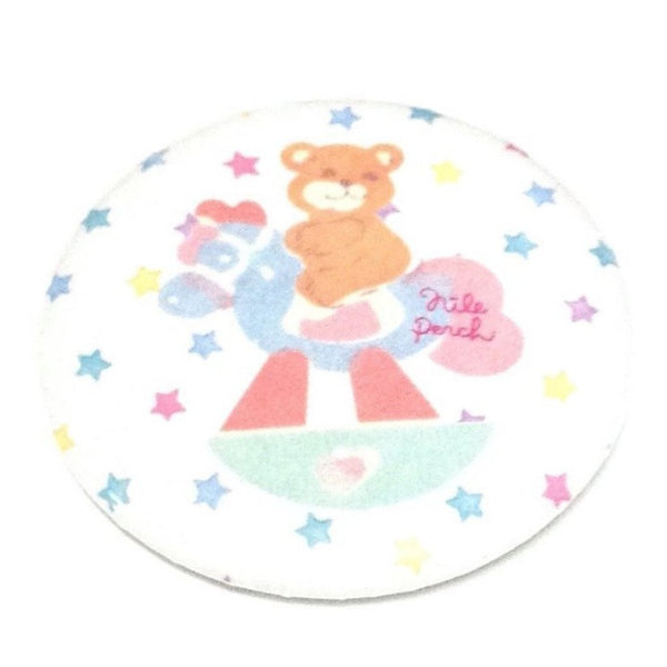 Teddy Bear on Rocking Horse Badge from Nile Perch