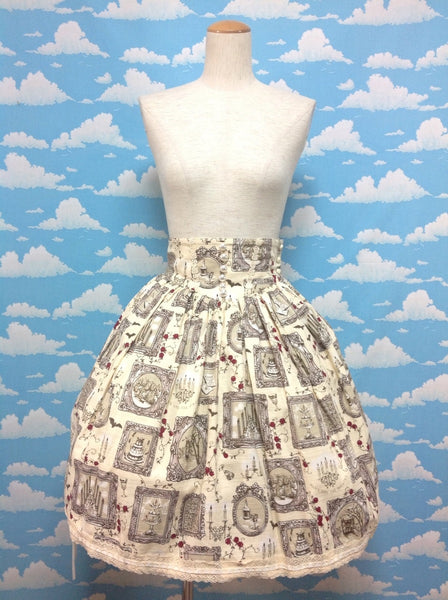 The Castle of Nightmare Skirt in Ivory from Alice and the Pirates