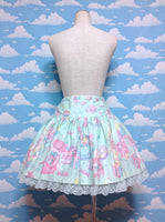 Toy Parade Low Waist Skirt (2012) in Mint from Angelic Pretty