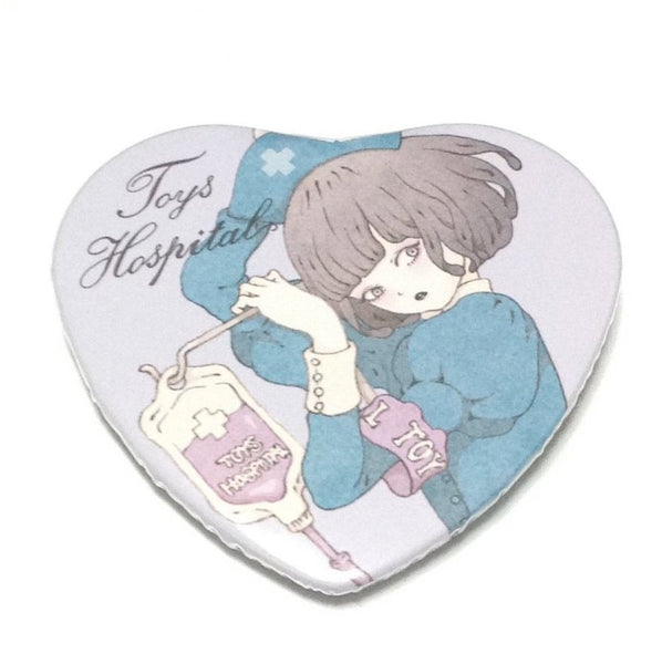 "Toy's Hospital ""Skip"" Heart Tin Badge from Imai Kira"