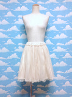 Tulle and Lace Short Pannier in Ivory from Arrow