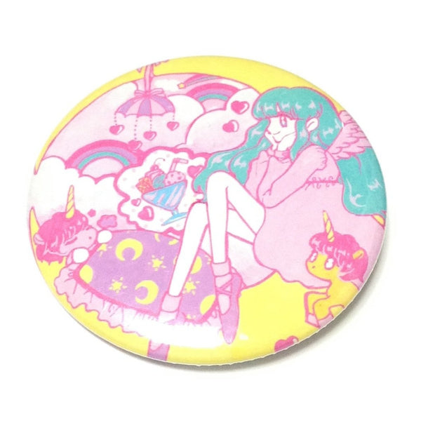 Unicorn's Sweet Dreams Badge in Pink x Yellow