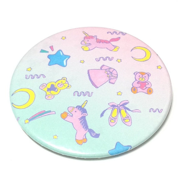 Unicorns and Teddy Bears Badge in Pink x Mint