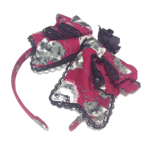 Vampire Forest Prima Donna Ribbon Head Bow in Red from Alice and the Pirates