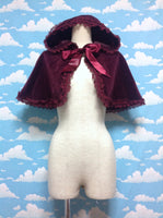 Velveteen Princess Cape in Wine from Moi-Même-Moitié