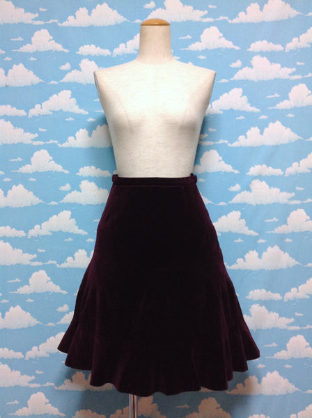 Velveteen Skirt in Wine from Jane Marple