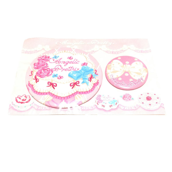 Whip Show Case Can Batch Pin Set in Pink x Dark Pink from Angelic Pretty