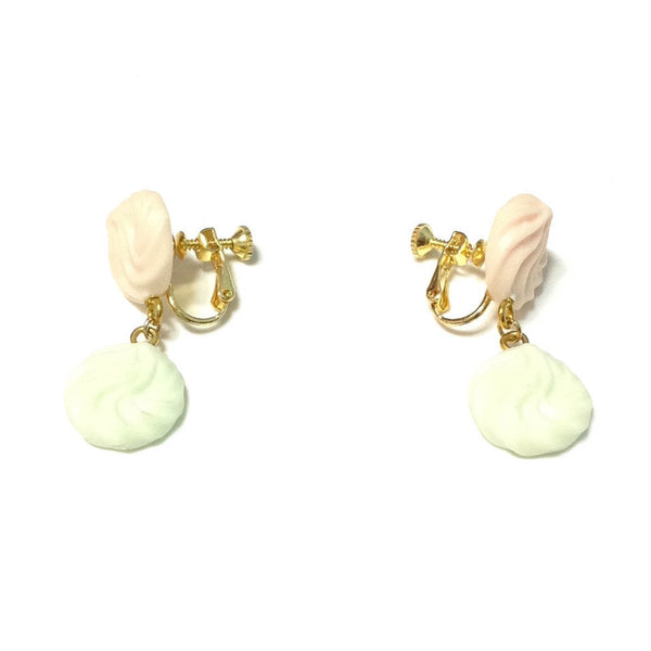 Whipped Cream Earrings in Pastel Colors from Tommy Fell in Love with Sweets