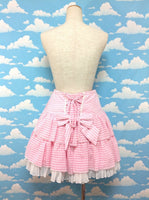 Whipped Gingham Skirt in Pink from Angelic Pretty