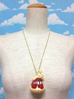 White Moon Chocolate Royal Berry Whip Pie Necklace