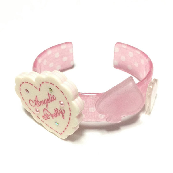 Wonder Cookie Bangle in White x Pink from Angelic Pretty