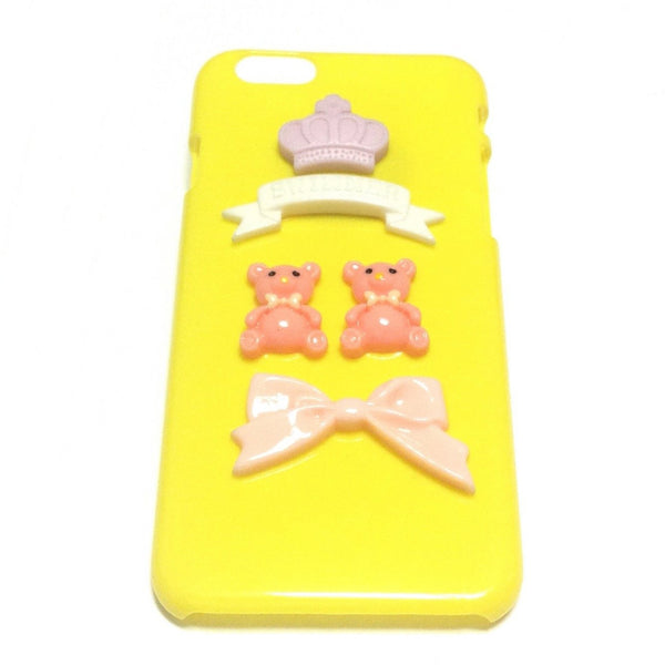 iPhone 4 Deco Smart Phone Case in Yellow (Twins) from SWIMMER
