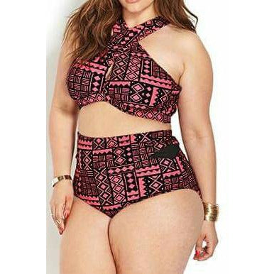 Aztec Swimsuit - Kurvacious Boutique