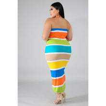 Load image into Gallery viewer, Color Block Tube Dress - Kurvacious Boutique