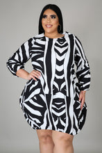 Load image into Gallery viewer, Zebra Bubble Dress