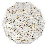 Gold Spatter Large Plates
