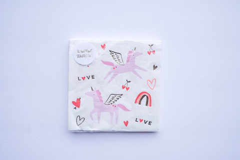 Valentine Unicorn Large Napkins