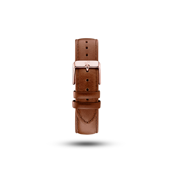 Pin Buckle - Brown Leather