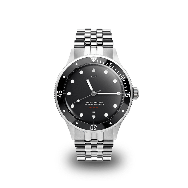 1926 At'sea, Steel / Black – 36mm