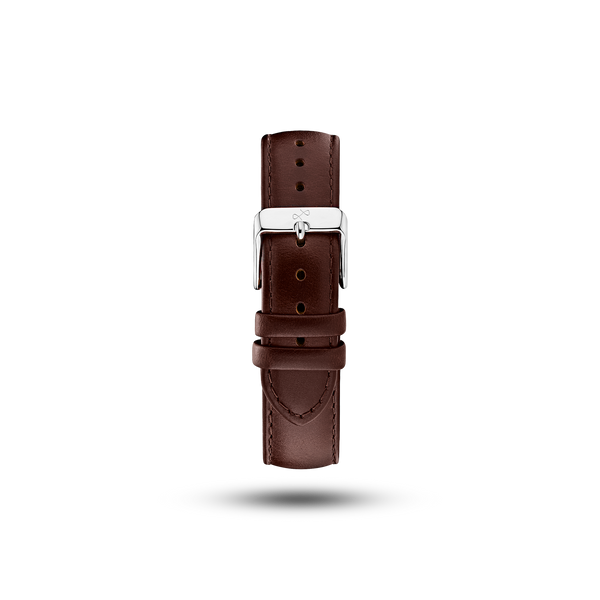 Pin Buckle - Dark Brown Leather