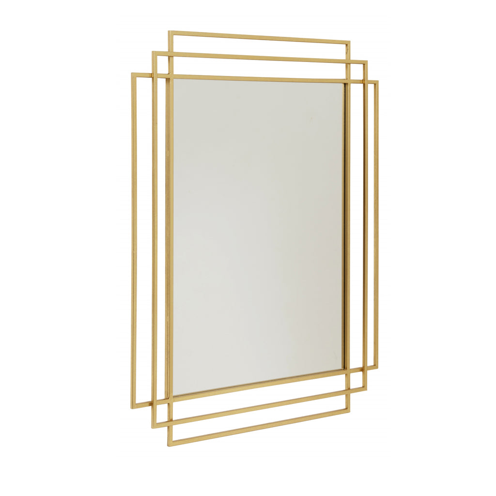 Square Mirror Antique Gold