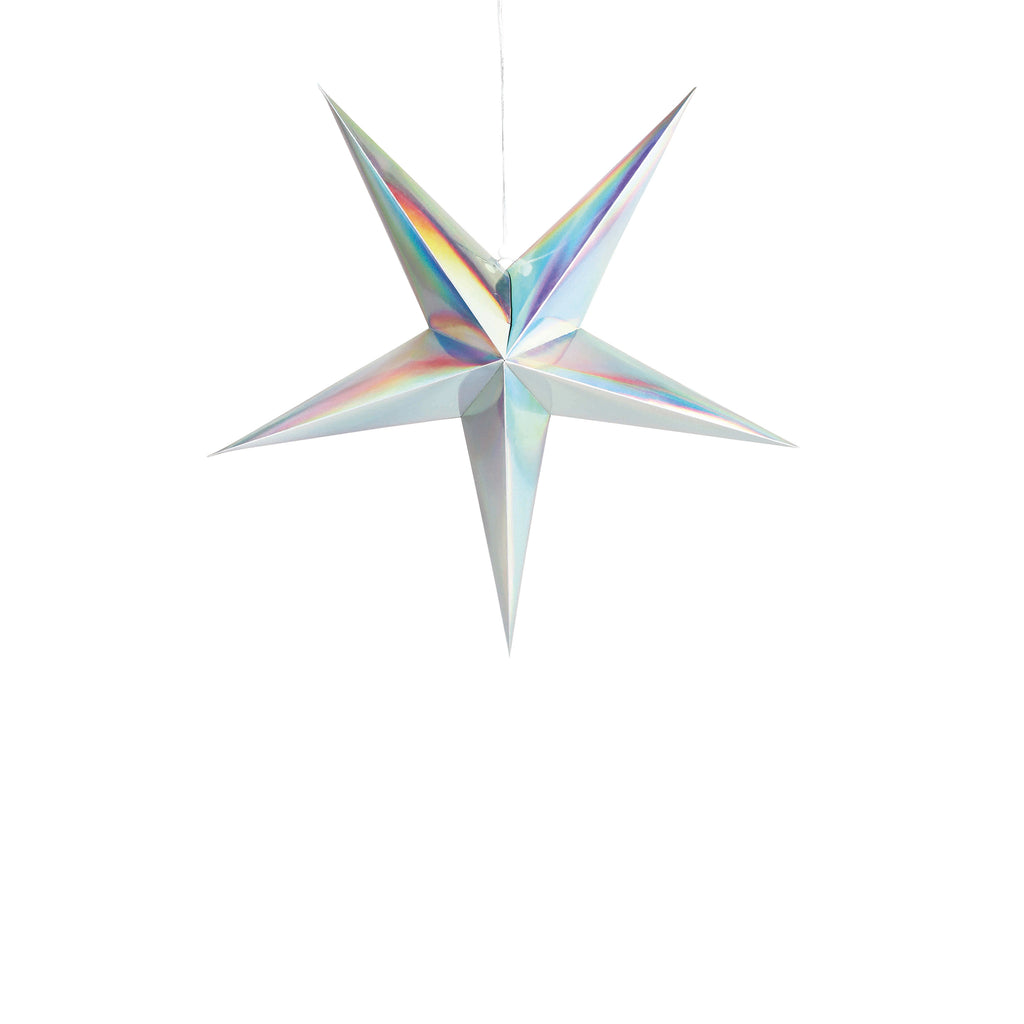 Holographic Paper Star 60 cm