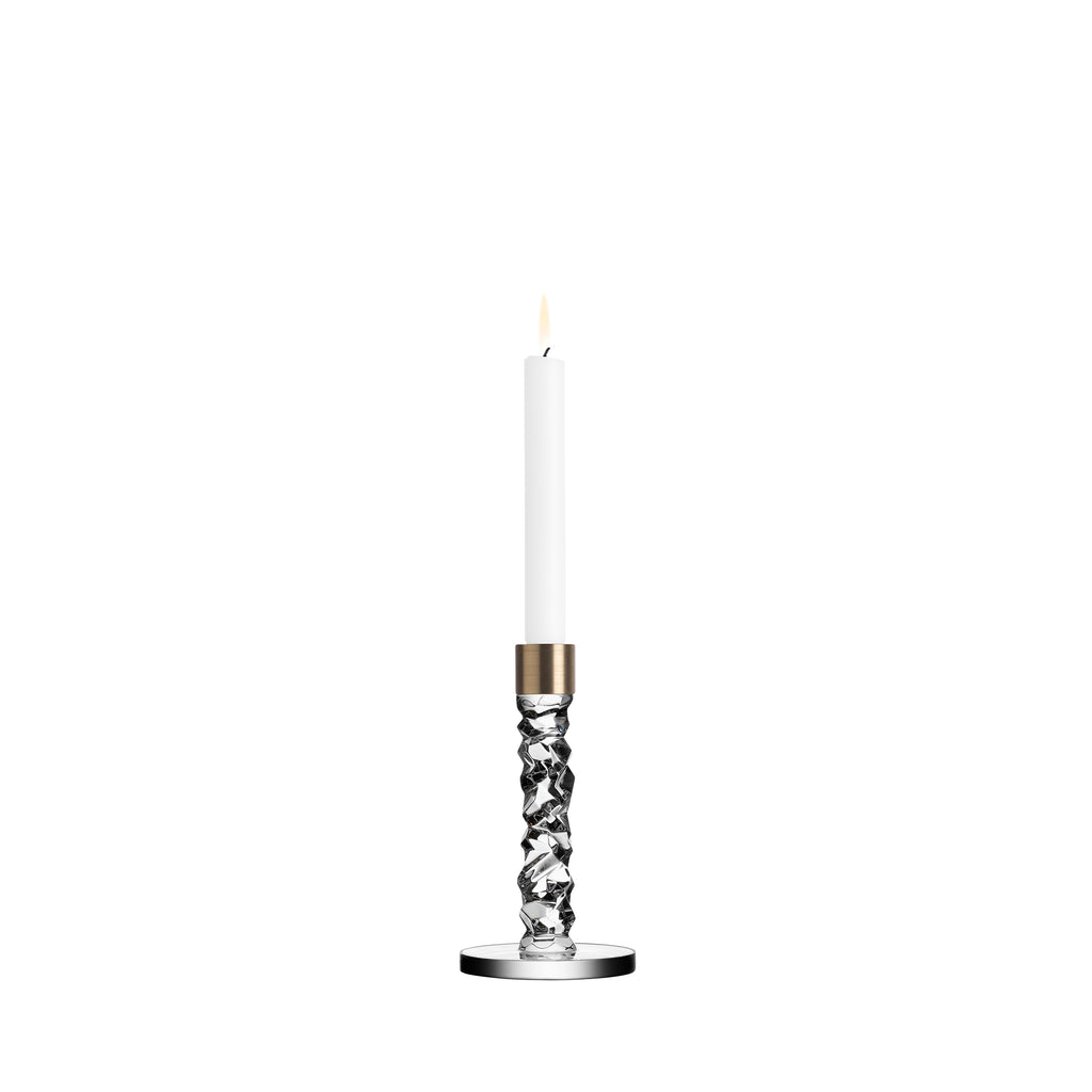 Carat Brass Candle Holder Low