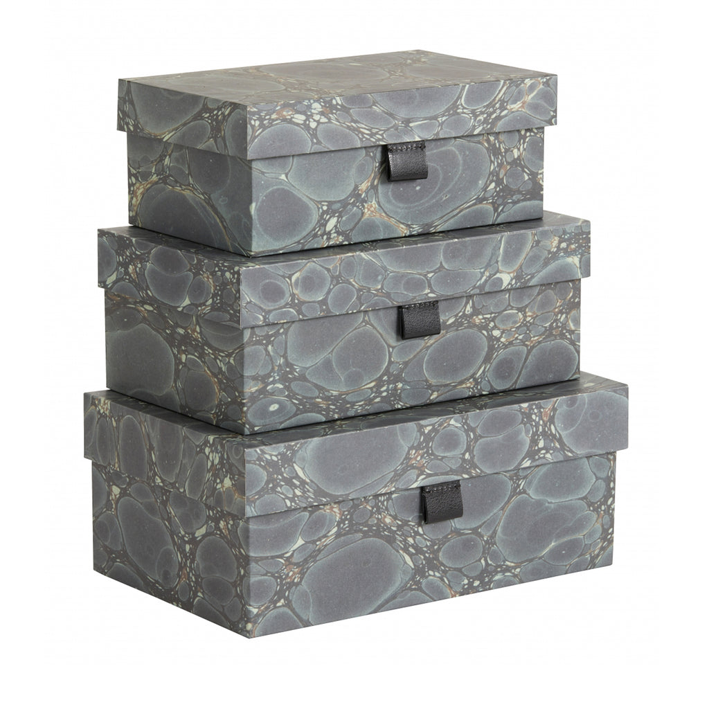 Green Mosaic Storage Box Set of 3