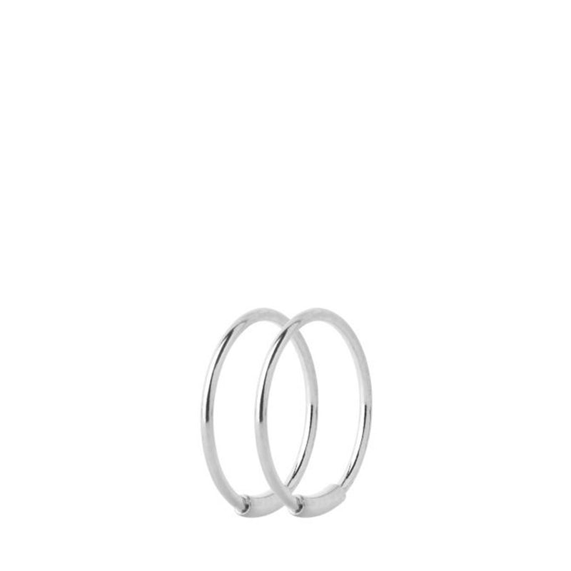 Basic Hoop S Earrings Silver