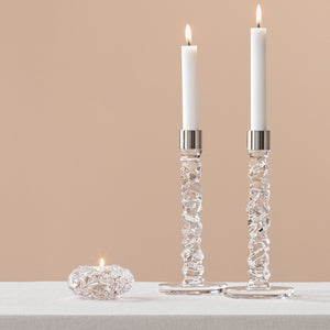 Carat Steel Candle Holders 2 pcs