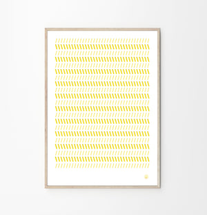 Coral Perforated Art Poster