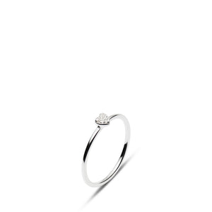 Mini Diamond Heart Ring