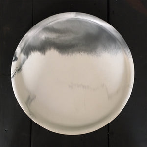 Plain Plate Marbled Dish White