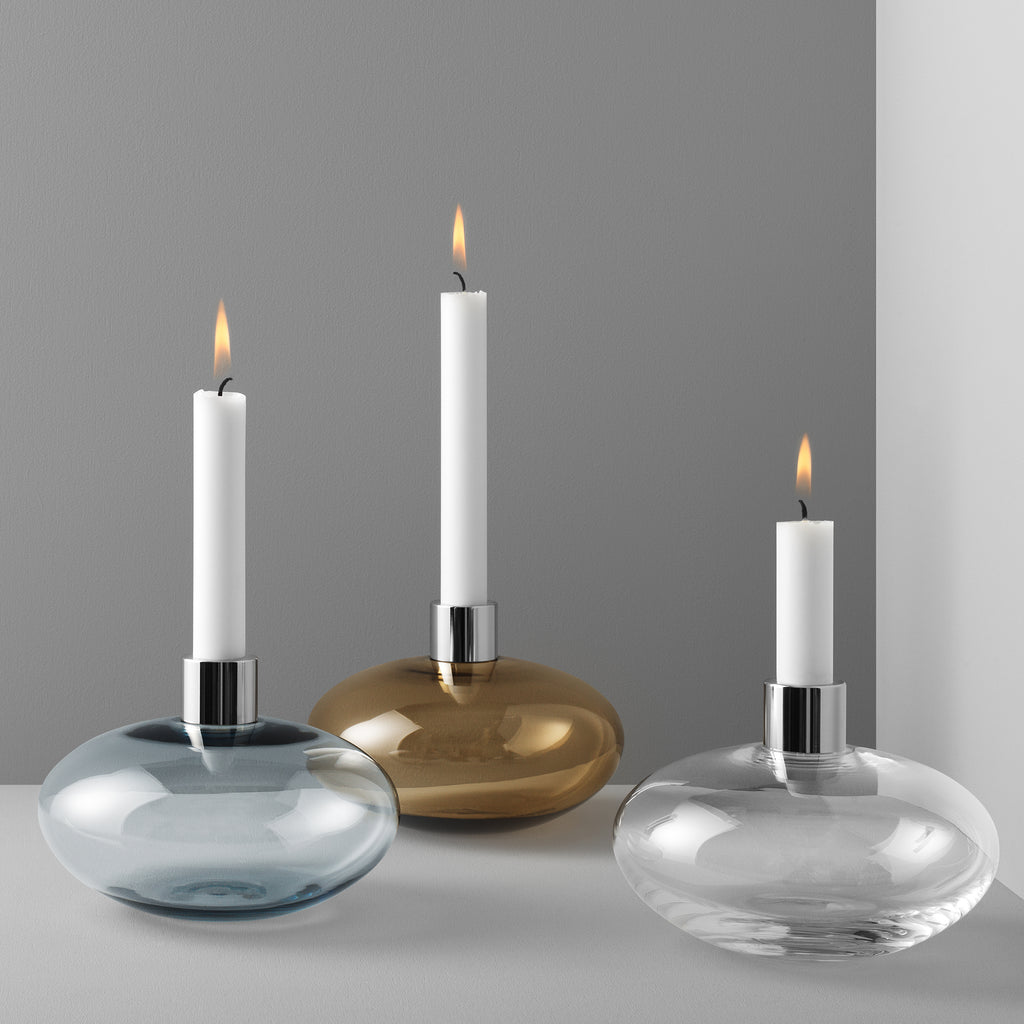 Pluto Candle Holder Clear