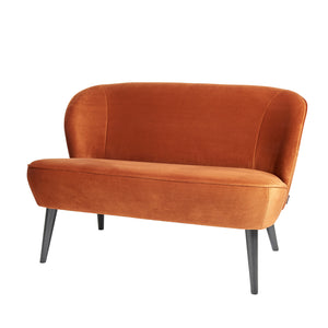 Sara Small Sofa Rust