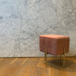Pouf Pale Pink & Gold