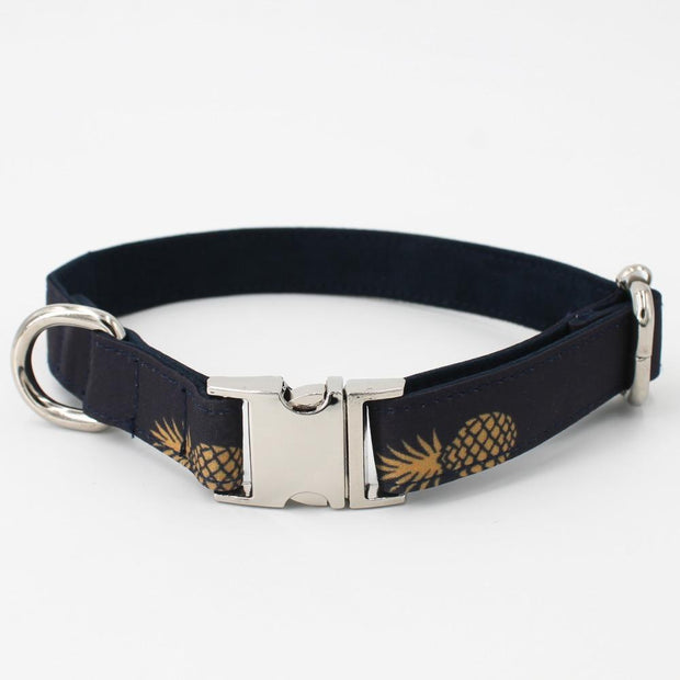 Black Pineapple Collar with Bow Tie
