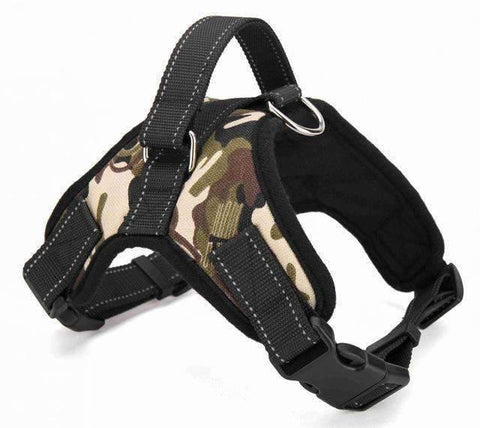 Strong Camouflage Harness With Reflective Stripe - Camouflage 1 / L - Harness